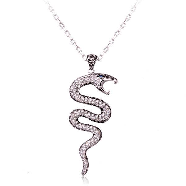 Fashion animal diamond costume necklace ...