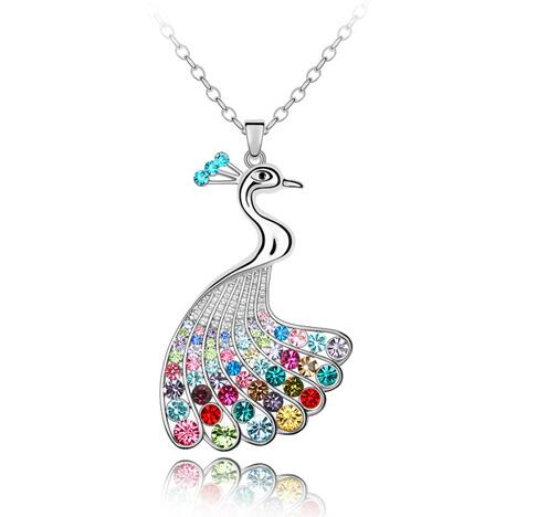 Austrian crystal necklace  KY3976