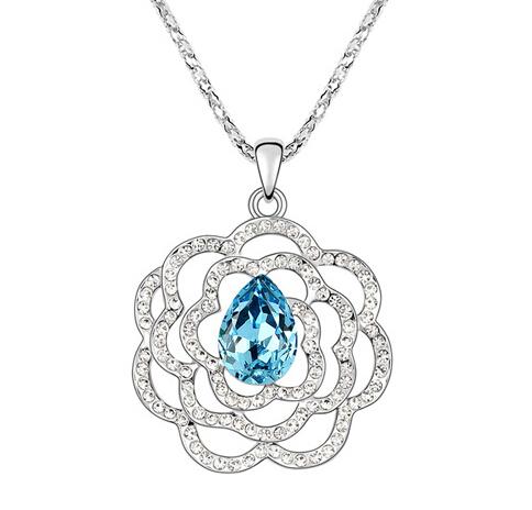 Kovtia crystal long necklace  KY6755