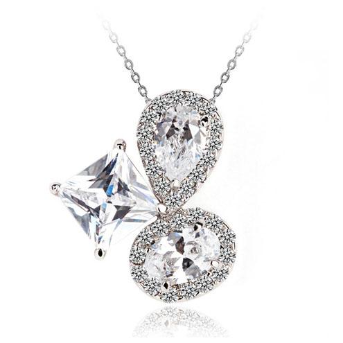 Popular zircon necklace 7005