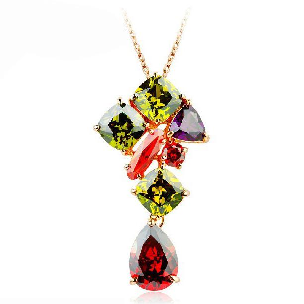 Popular Mona Lisa zircon necklace 1811855