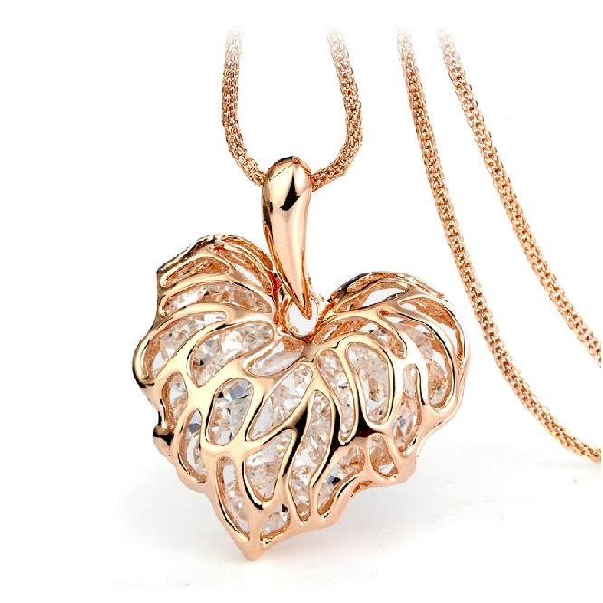 Popular heart shape costume necklace HXA...