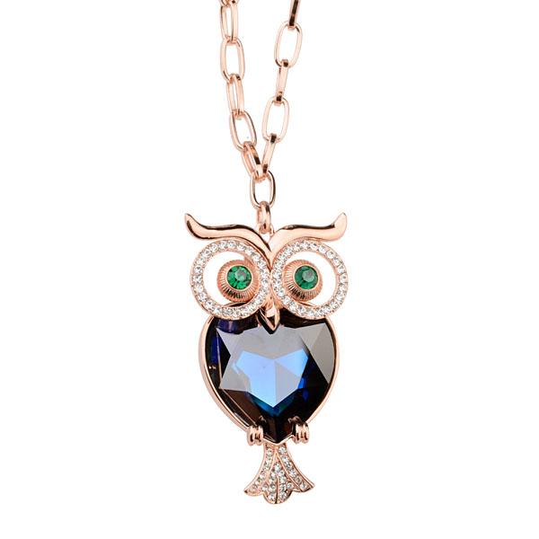 Popular owl pendant costume necklace N62...