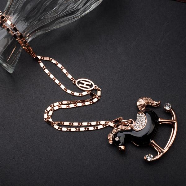 Popular horse pendant costume necklace  ...