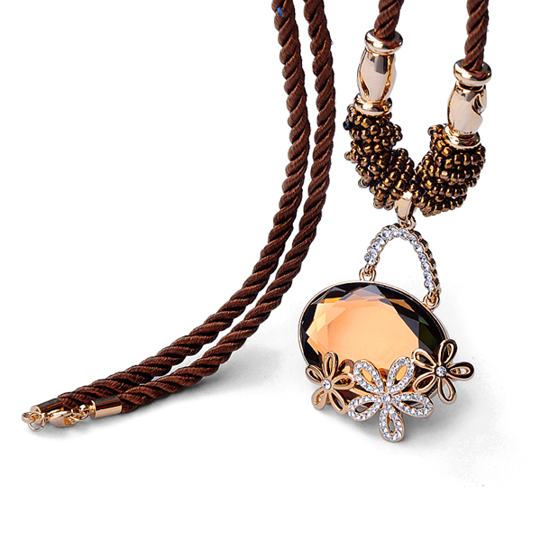 Kovtia  crystal long necklace HXA349942B