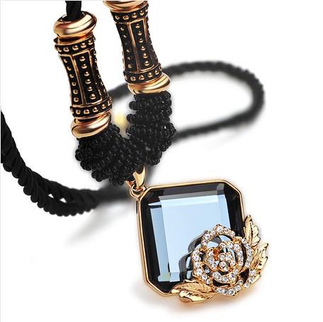 Kovtia  crystal long necklace HXA350042B
