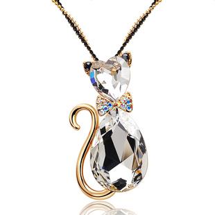 Kovtia crystal long necklace HXA4848