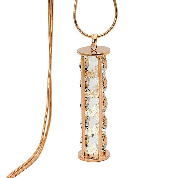 popular crystal long necklace N64912