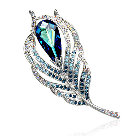 Popular crystal brooch 500432