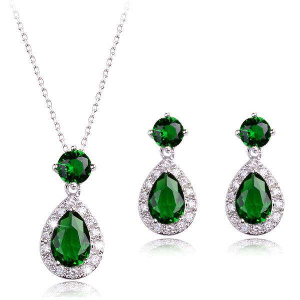 Popular AAA zircon jewelry set 1837489