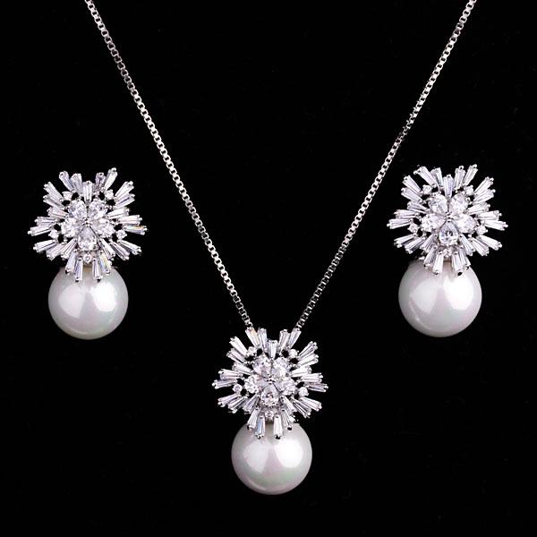 Popular Korean style diamond and pearl s...