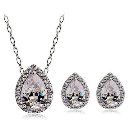 Popular Korean style zircon jewelry set ...
