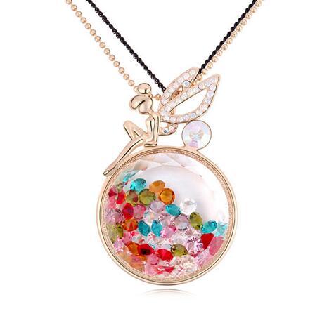 Austria crystal necklace  KY11283