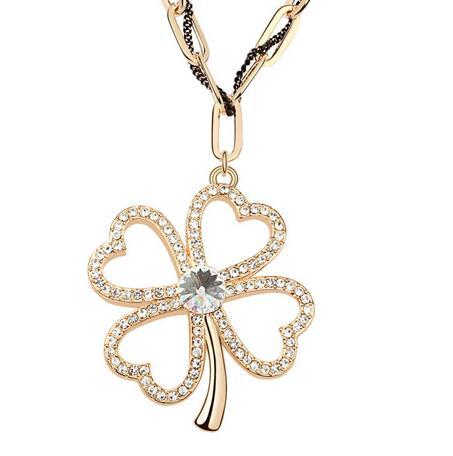 Kovtia crystal long necklace KY6976