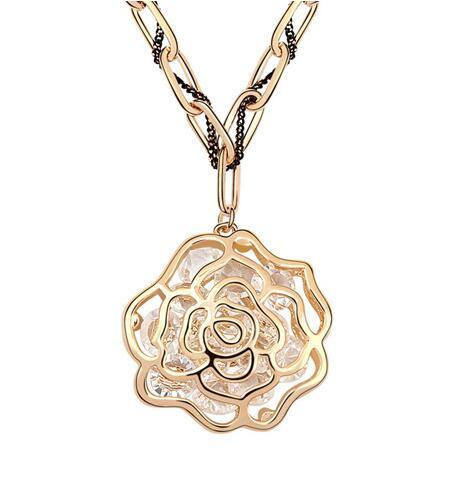 Kovtia crystal long necklace  KY6659