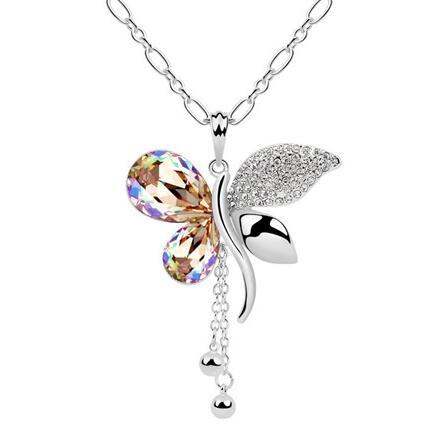 Kovtia crystal long necklace   ky6525