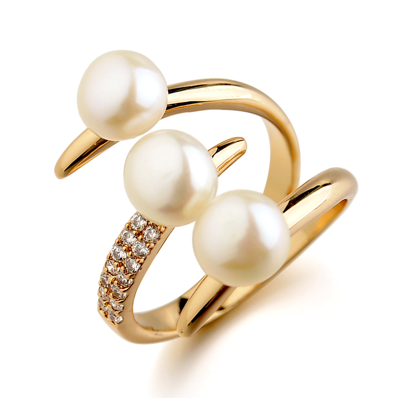 three pearl open ring 115645