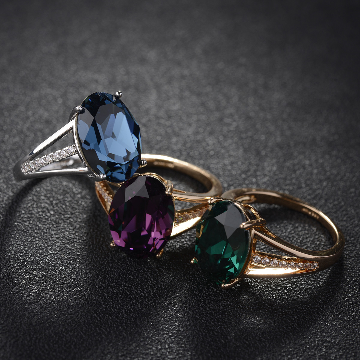 crystal stone ring 97609