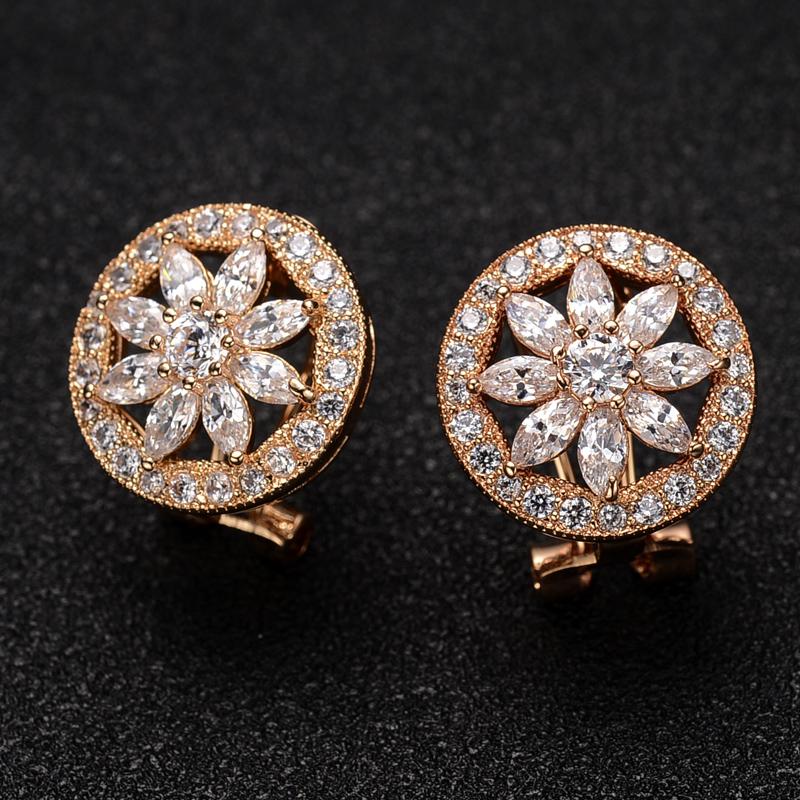 flower zircon earring 321752