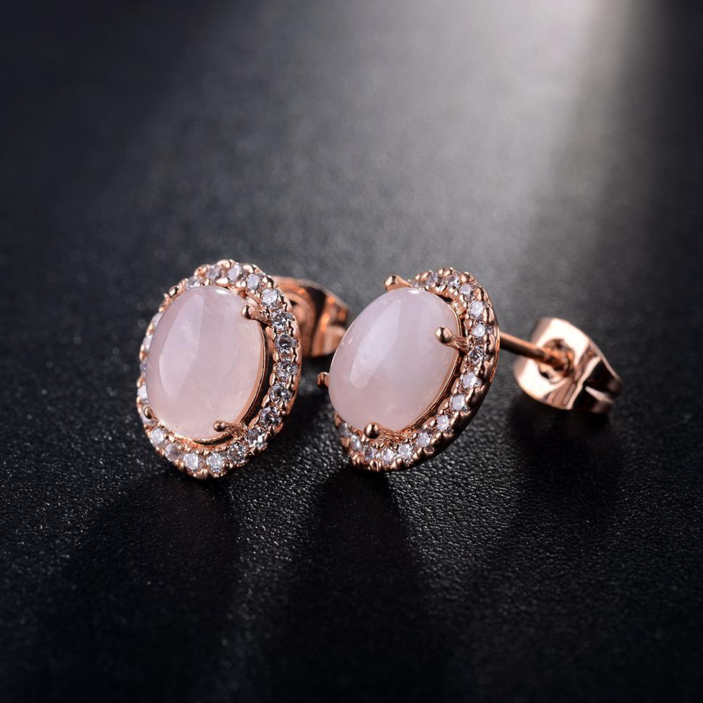pink opal earring 321566