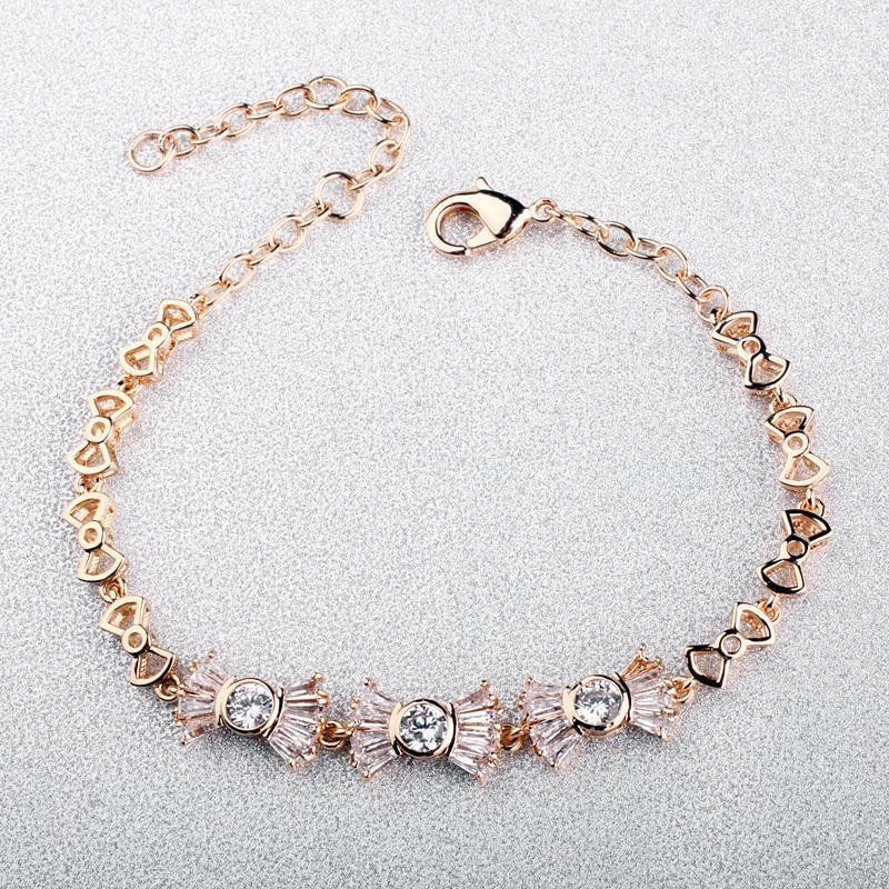 knot zircon bracelet 32059