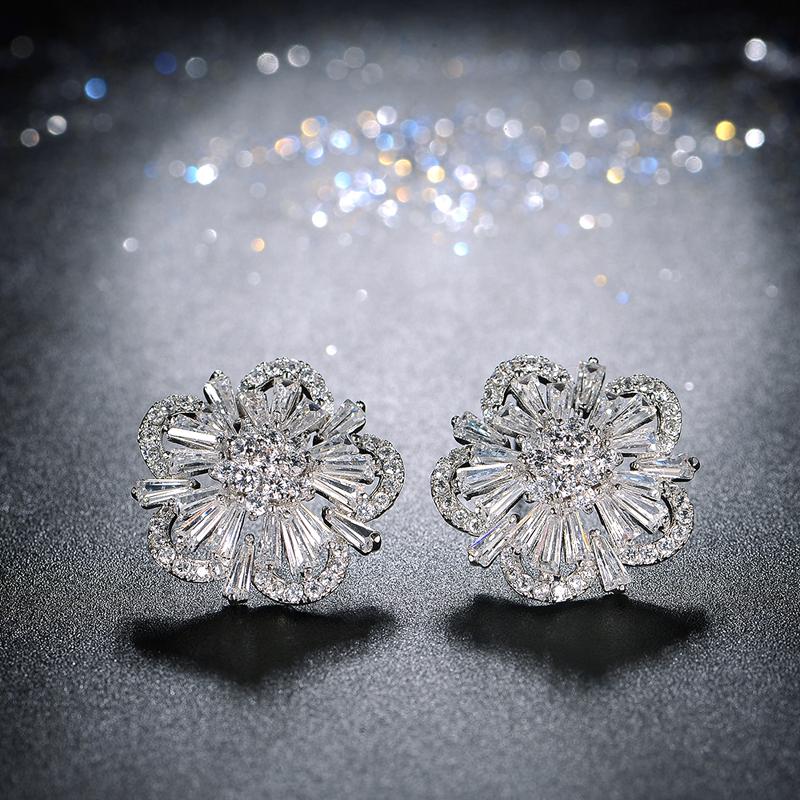 flower zircon earring 2051