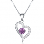 heart crystal necklace 1001