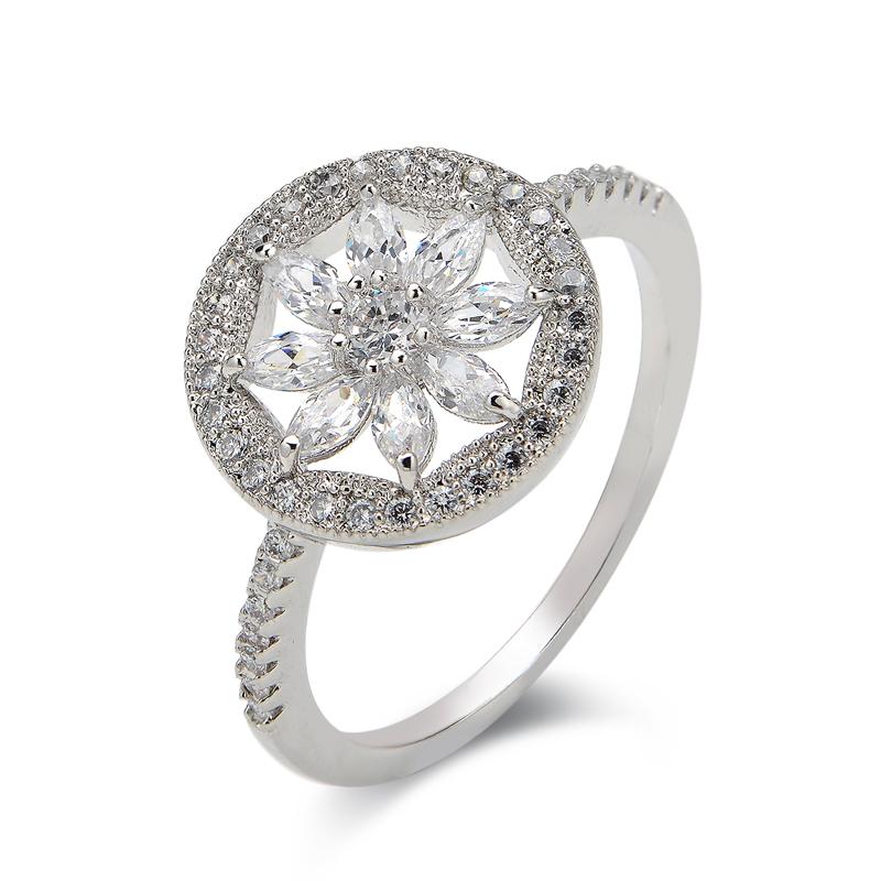 fashion zircon ring 4001