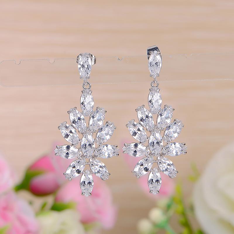 fashion zircon earrings 2034