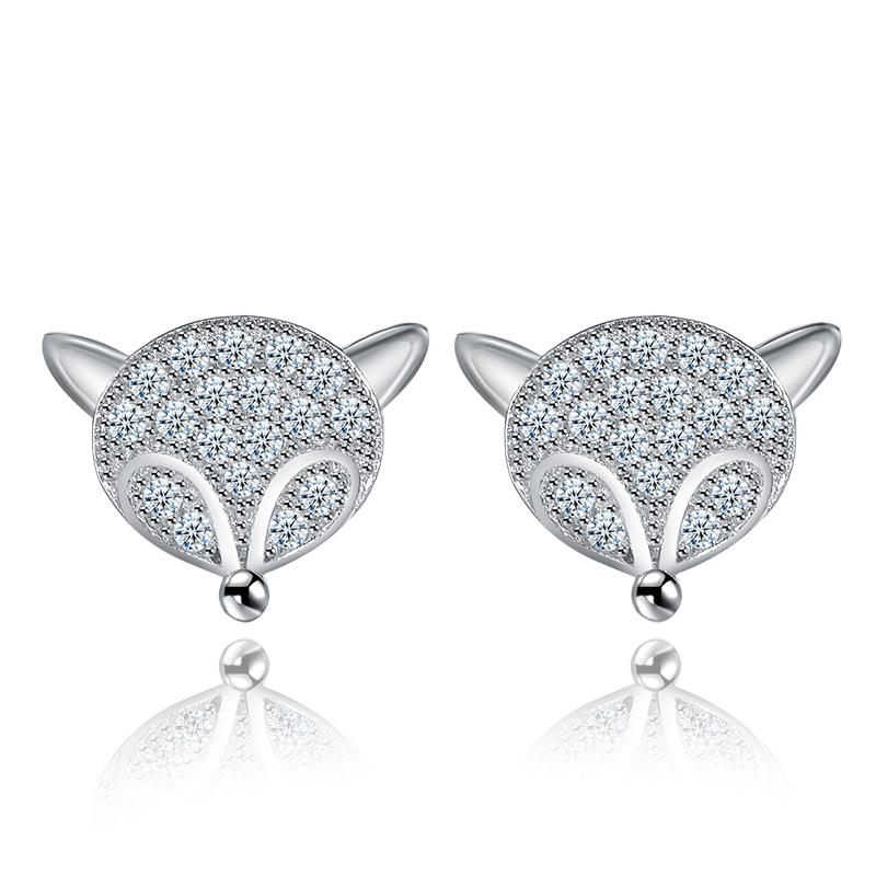 zircon stud earrings 2001