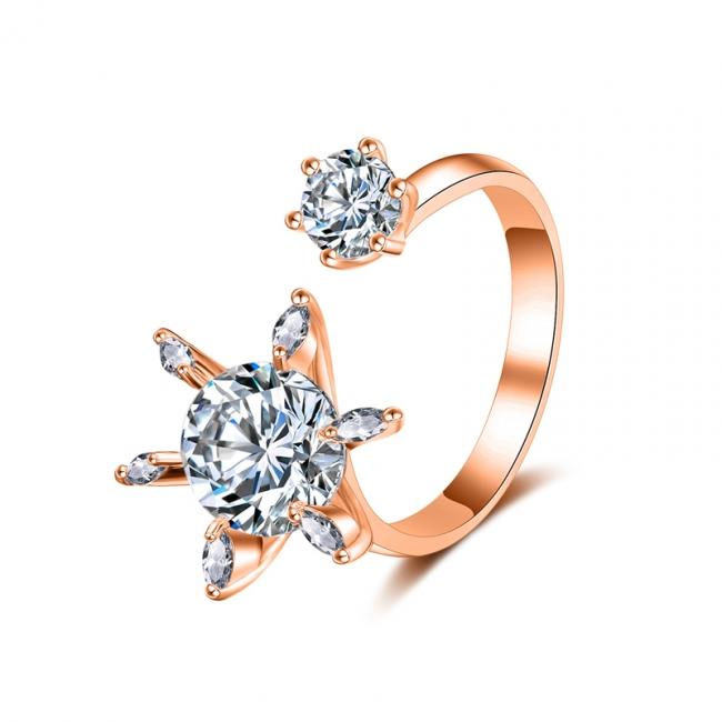 fashion zircon open ring 4004