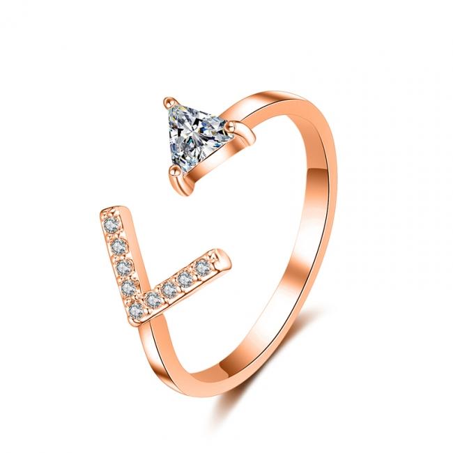 fashion zircon open ring 4007
