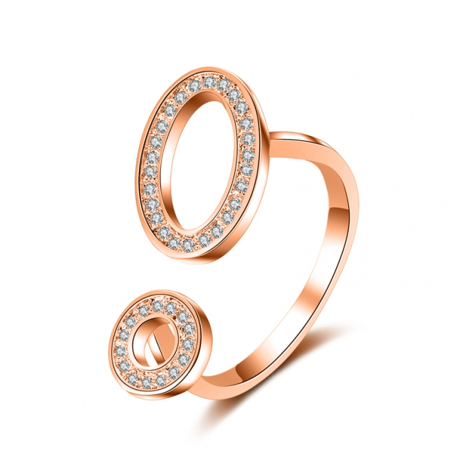 fashion zircon open ring 4008