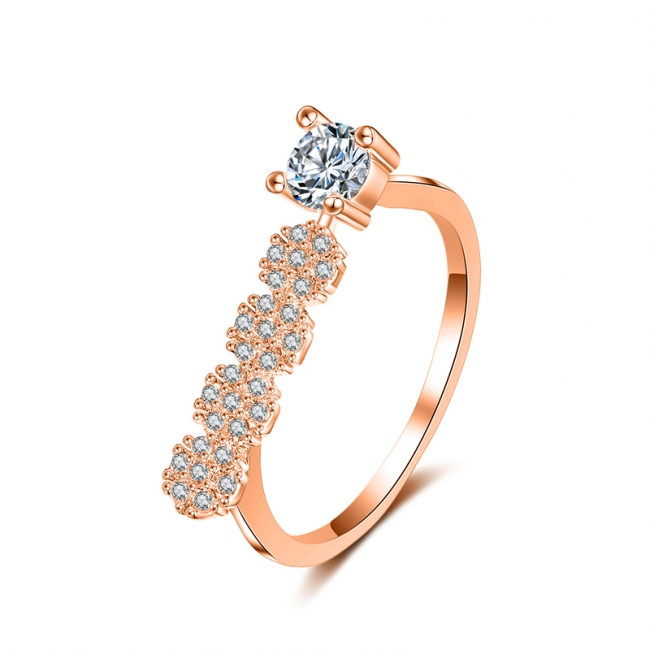 fashion zircon ring 4009