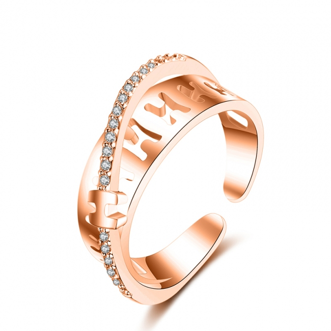fashion zircon open ring 4022