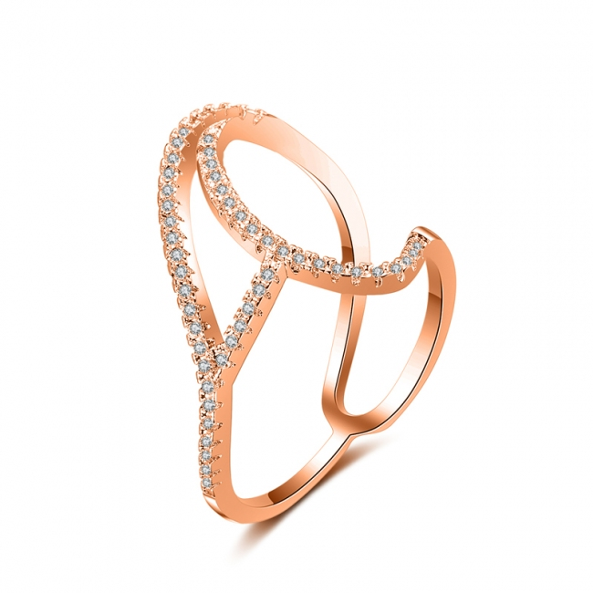 fashion zircon open ring 4024