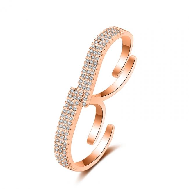 fashion zircon open ring 4025