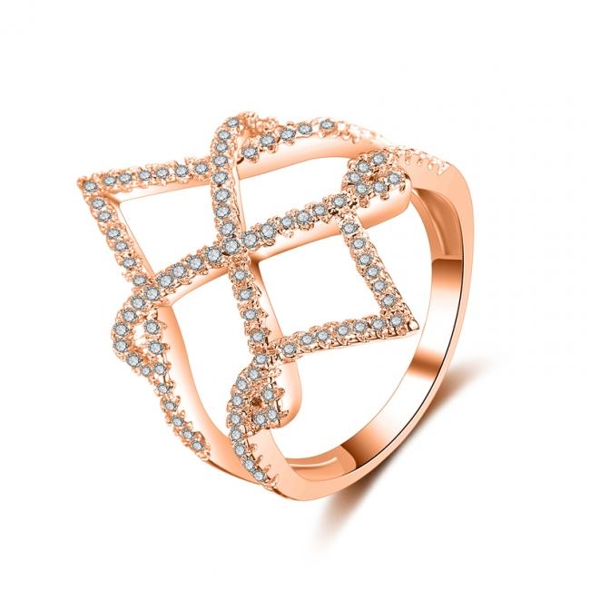 fashion zircon open ring 4027