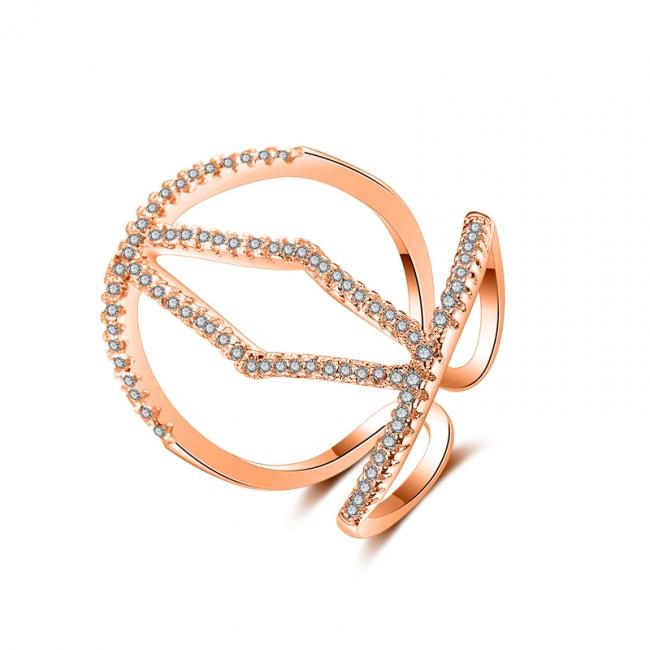 fashion zircon open ring 4033