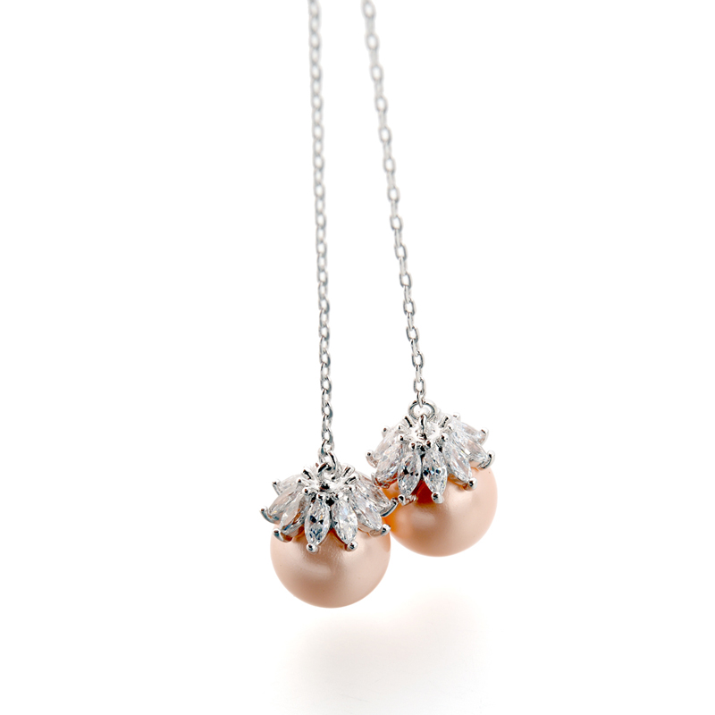 dangle pearl earrings 87878