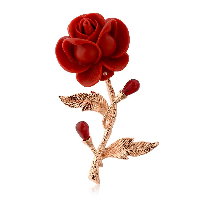 fashion rose brooch 53744