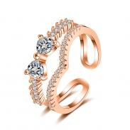 fashion zircon open ring 4011