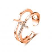cross zircon open ring 4015