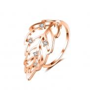 zircon leaf open ring 4016