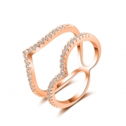 fashion zircon open ring 4017