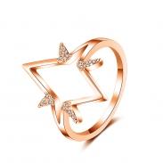 fashion zircon open ring 4019