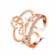 fashion zircon open ring 4028