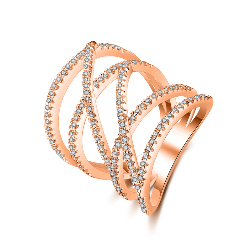 fashion zircon ring 4032