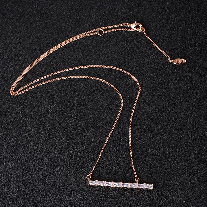 bar zircon necklace 62122