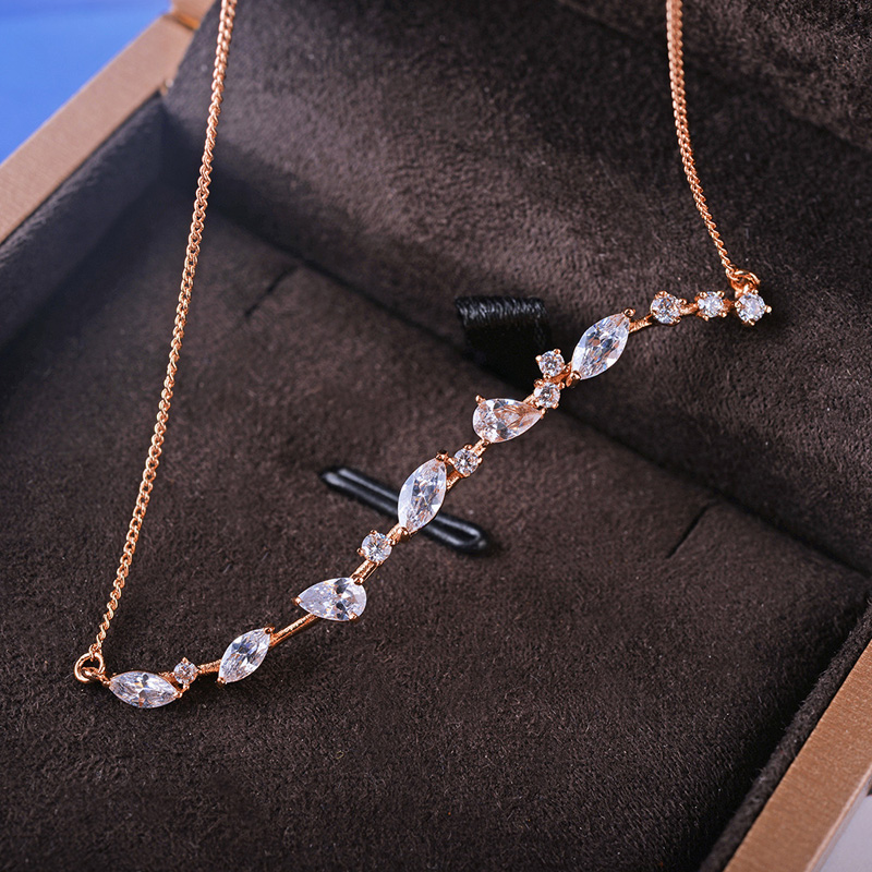 fashion zircon necklace 62123